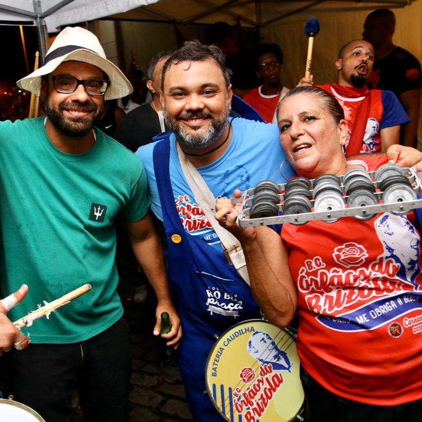 Brizola Neto com Everton Gomes e Ivanna Groff