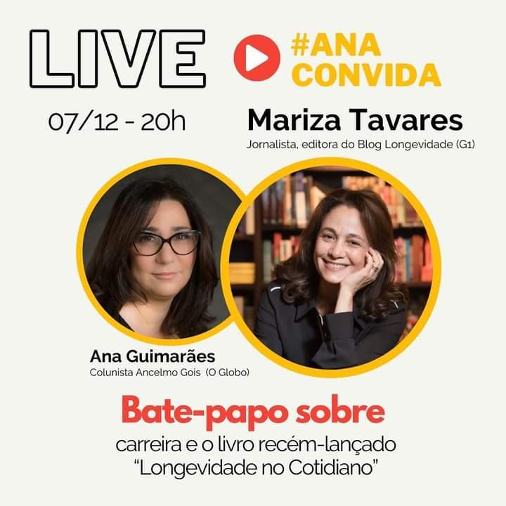 Ana Claudia Guimarães fará live nesta segunda com Mariza Tavares