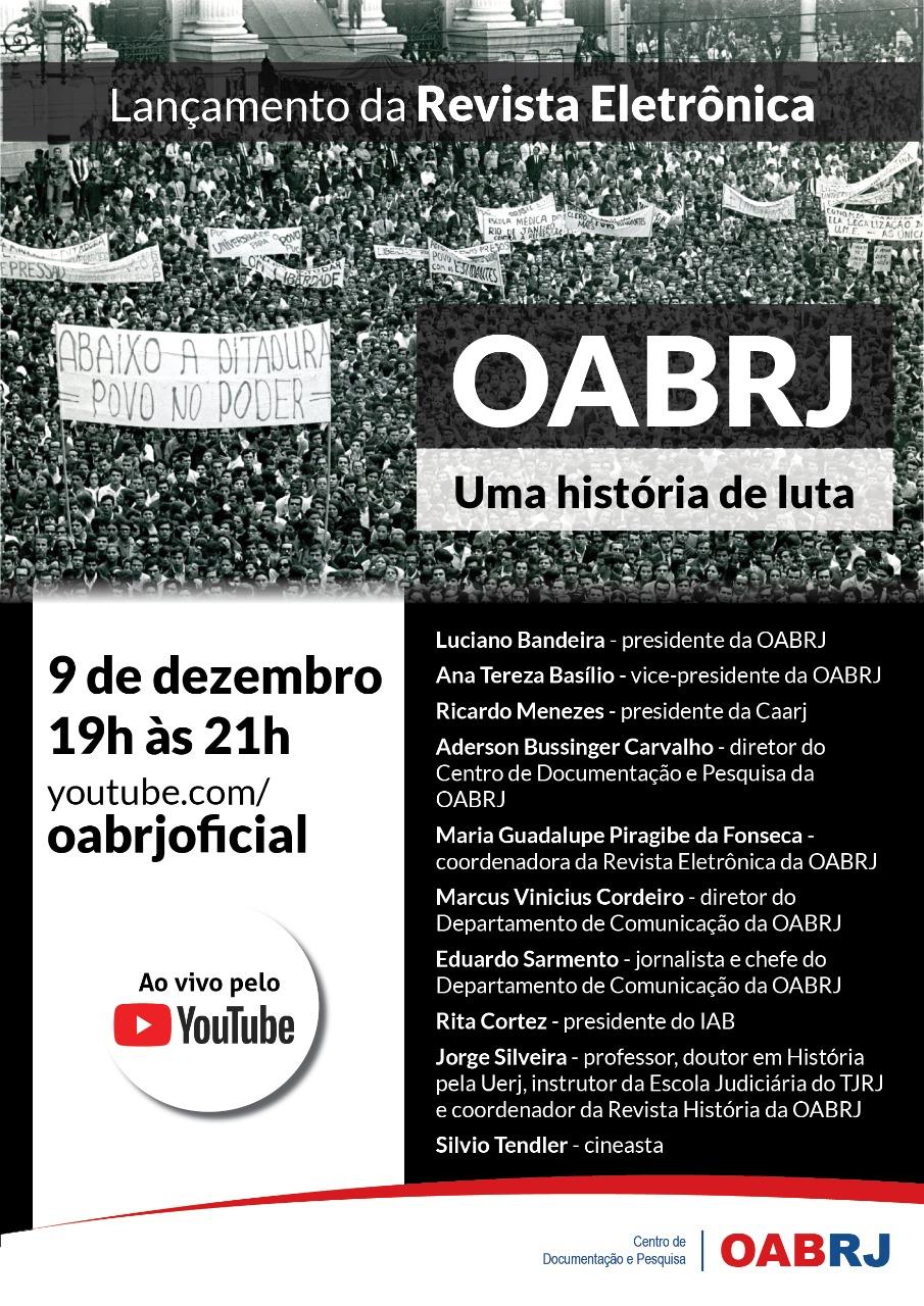 Lançamento da Revista Eletrônica da OAB-RJ