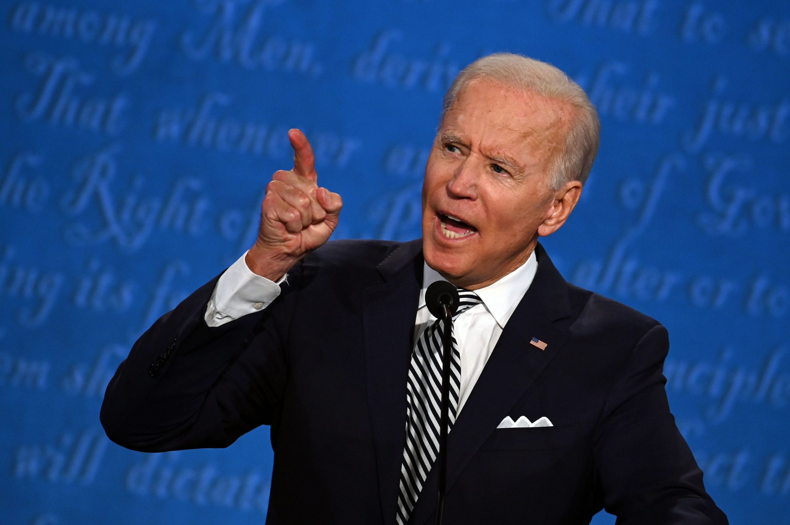 Joe Biden during the first U.S. presidential debate. Photo: StratosBril/Shutterstock