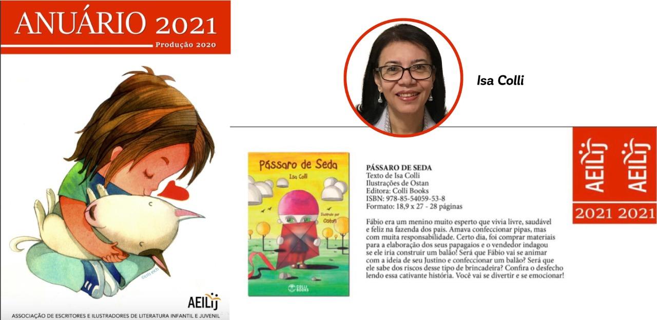 """Isa Colli entra para anuário de obras infantis e juvenis com livro """"Pássaro de Seda"""""""