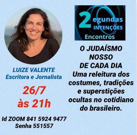 Luize Valente | Live sobre o Judaísmo